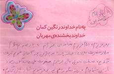 تبریک روز پدر به مقام معظم رهبری توسط دانش آموز حافظ حجاب