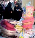 بازدید مسئول امور بانوان شعبه کاشان ازغرفه محصولات فرهنگی حجاب ریحانه النبی