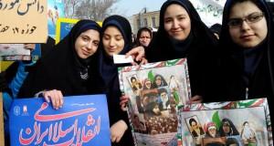 حضور دختران خوش حجاب ارومیه در راهپیمایی ۲۲ بهمن
