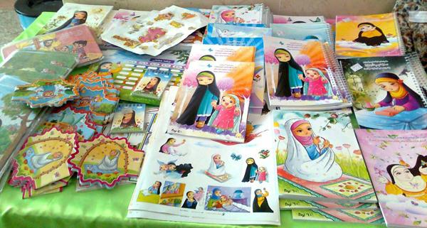 برگزاری نمایشگاه حجاب،مدارس مجری طرح در پردیسان قم بمناسبت دهه فجر ۹۴
