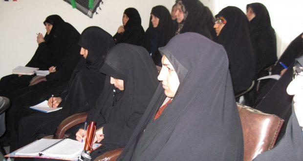 برگزاری کارگاه آموزش تکمیلی مربیان حجاب شعبه ساری