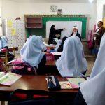 بازدید مسئول ستاد اقامه نماز آموزش و پرورش خراسان رضوی از مدارس طرح حجاب ریحانه النبی(س)