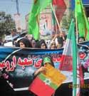 حضور اعضای خوش حجابی ونسیم عفاف در راهپیمایی روز قدس در ارومیه