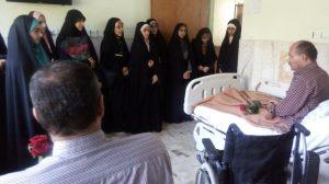 عیادت دختران خوش حجاب از جانبازان شهر ساری